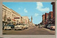 Postcard GA Valdosta Street Scene Patterson St Firestone Sears 1940s Cars 2322N