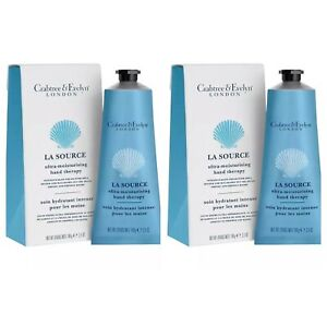 Crabtree and Evelyn La Source Ultra Moisturising Hand Cream Therapy 100g X2
