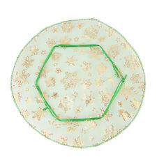 50pcs Wholesale Green Golden Snowflake Round Wedding Organza Pouch Gift Bags J