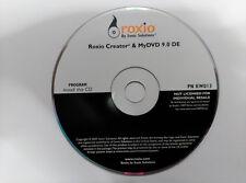 Cd ROXIO CREATOR & My DVD 9.0 DE