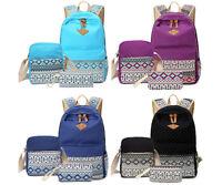 Women Canvas Girl's Shoulder School Bag Backpack Travel Satchel Rucksack Bookbag