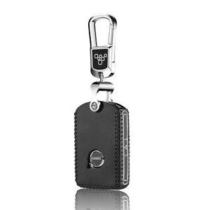 Leather Car Key Case Cover for Volvo S90 2015 2016 2017 V90 Key Holder Key Bag