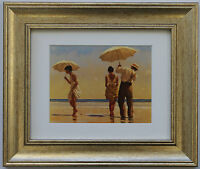 Mad Dogs by Jack Vettriano Framed & Mounted Art Print Picture Gold