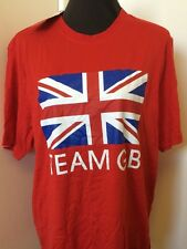 Official Adidas T-Shirt Team GB Olympics Size Large Red Shirt with Union Jack