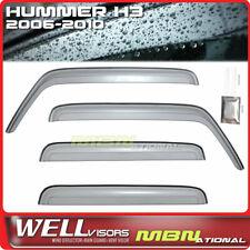 Wellvisors Rain Sun Deflectors For Hummer H3 06-10 Window Visors Clip-on Series