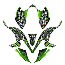 KFX 450R graphics decal kit for Kawasaki Quad #2500 Green FREE custom service