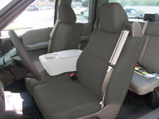 FORD F-150 04-08 S.LEATHER FRONT CUSTOM SEAT COVER BUILT IN SEATBELT CHARCOAL