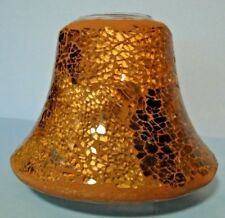 Brown-Tan-Gold Mosaic Candle Topper For Medium & Large Round Jar Candles