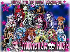 MONSTER High Edible ICING Image Decoration CAKE Topper FREE SHIPPING
