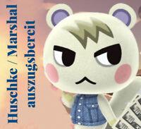 Animal Crossing New Horizons 🖤Bewohner HUSCHKE / MARSHAL🖤auszugsbereit