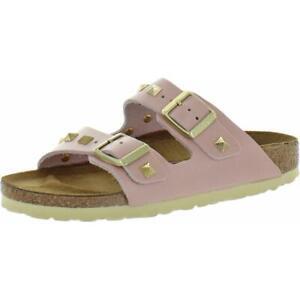 Birkenstock Womens Arizona Nieten Pink Slides Footbed Sandals Shoes 36 BHFO 3535