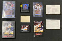 Lot (2) NHL Hockey 1991 Mario Lemieux Hockey Sega Genesis CIB tested w/ Inserts
