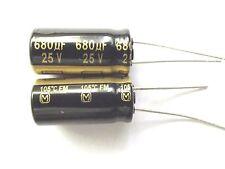 680uf 25v 105c baja ESR tamaño 20mmx10mm Panasonic EEUFM 1E681 x2 un.