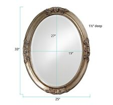 "Howard Elliott 4015 Queen Ann 33"" x 25"" Antique Silver Leaf Mirror"