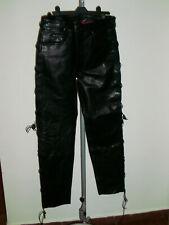 Pantaloni cruiser uomo in pelle per motociclista  bc60d13b6534