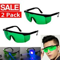 2Pcs Laser Goggles Eye Protection Safety Glasses Goggles For Purple/ Blue Laser