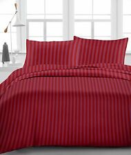 """Fitted Sheet & Pillow Case, 1000 TC, Drop 15"""" Inch  Queen Size - Burgundy Stripe"""