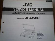 JVC AL-A151BK giradischi Servizio Manuale diagramma di cablaggio Parti Riparazione Manutenzione
