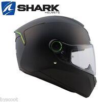 Casque intégral SHARK Skwal noir mat 3 leds moto route micrométrique solaire