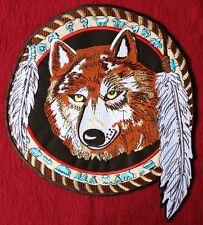 XXL Aufnäher Wolf, 24 x 27 cm Motorrad Indianer Biker Kraft Tier Patch Mandela