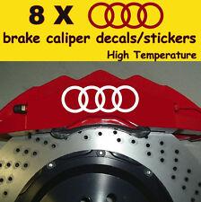 8 X Audi Decal Sticker Vinyl Emblem Graphics Logo Car Window A
