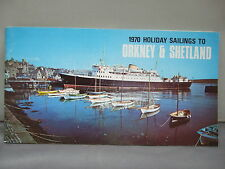Orkney &  Shetland - 1970 Holiday Sailings Guide - Illustrated