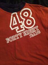48 Jeans Short Sleeve Orange T Shirt Mens Size S