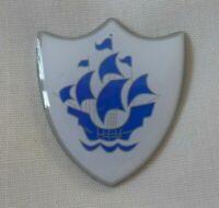 Blue Peter style pin badge. Childrens TV, School Fancy Dress, 70's, 80's,