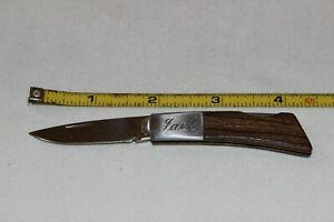 Vtg GERBER INTERNATIONAL SILVER KNIGHT JAPAN Lock Back Folding Knife Named JACK
