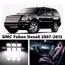 16pcs LED Xenon White Light Interior Package Kit for GMC Yukon Denali 2007-2013