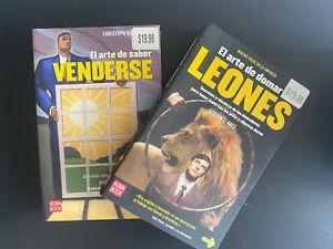 Lote 2 Libros: El arte de saber venderse y El arte de domar leones
