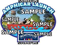 Downtown Disney Springs Amphicar Launch Boathouse Scrapbook Paper Die Cut Piece