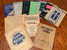 ��Organ & Piano Sheet Music Lot Study transcription Century Vintage