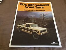1976 International Scout Terra Pickup Colore Brochure Catalogo Prospetto