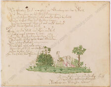 """From Student's Album"", German Watercolor, 1750s"