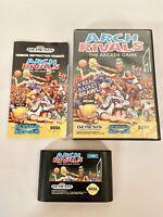 Arch Rivals: The Arcade Game Sega Genesis CIB Complete w/ Manual. Fast Shipping