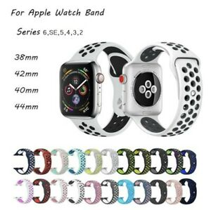For Apple Watch Nice Silicon Sports Strap 38/40/42/44mm Soft Silicone UK SELLER