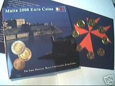2008 MALTA 8 monete 3,88 EURO in folder protetto Malte Мальта 马耳他