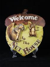 Welcome to Nut House Squirrel Acorn Shape Metal Wall Art 3D Sign Made in USA NWT
