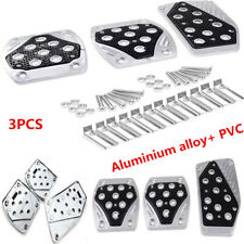 3PCS Aluminium Alloy APC Non-Slip Foot Pedals Pad Covers Manual Transmission M/T