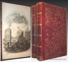 1865 - LAS CALLES DE BARCELONA - 1ª EDICION - 2 TOMOS -Láminas y gran Mapa -