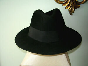 "Vintage ""Designer Collection Untouchable"" Fedora Wool Hat Size 7 1/8"