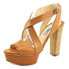 PRADA Leather Platforms & Wedges Heels for Women