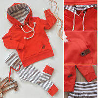 US Newborn Kids Baby Boy Girl Outfits Clothes Romper Jumpsuit Bodysuit+Pants Set