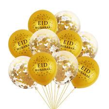 12Pcs/set Ramadan Kareem Banner Balloons Eid Mubarak Decor Muslim Party DIY