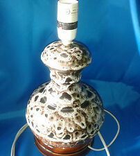 VINTAGE RUSTIC POTTERY MOTTLED EFFECT CERAMIC LAMP 60'S/ 70'S,Very RARE