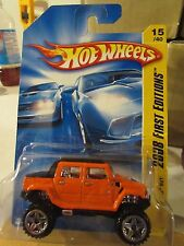 Hot Wheels Hummer H2 SUT 2008 First Editions Orange!