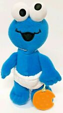 My First Pal COOKIE MONSTER Plush Baby Diaper Teether Fisher Price Toy Doll Blue