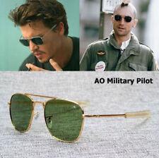 MILITARY AO Pilot Sunglasses Brand American Optical Eyewear New Fashion Army