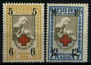 Estonia 1926 SG#60-61 Red Cross Fund Unused No Gum Set #E78875
